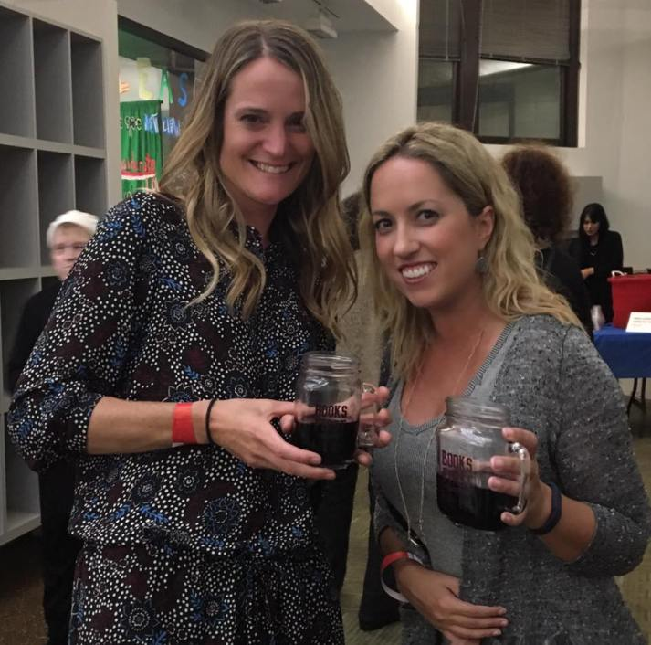 with 'Pretty Little Liars' author Sara Shepard at a Carnegie Library event, October 2016